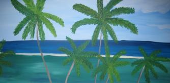 Lisbeth Le Fevrè akrylmaleri