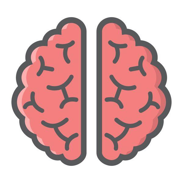 tegning af hjerne