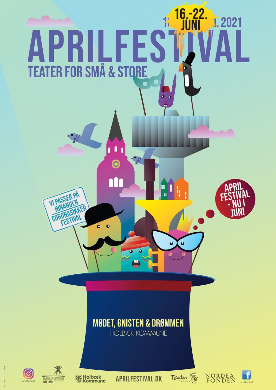 Plakat for Aprilfestival 2021